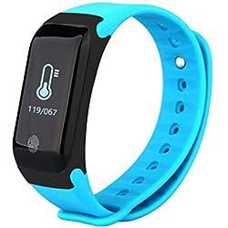 Inteligente Bluetooth Digital Al aire libre Reloj deportivo electrónico Pulsera multifunción Contador de pasos Calorías de podómetro Monitor de sueño de frecuencia cardíaca Impermeable para hombres