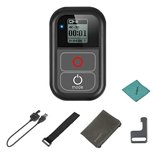 SHOOT Telecomando Gopro WiFi Telecomando Intelligente Impermeabile con Cavo di Ricarica Cinturino da polso in metallo Custodia in tessuto per GoPro Hero 7 6 5 4 3+ 3
