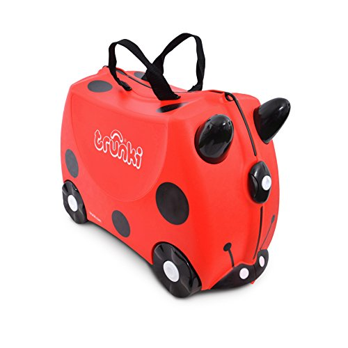 Trunki Ride-on suitcase and child carry-on: Ladybug Harley (Red)