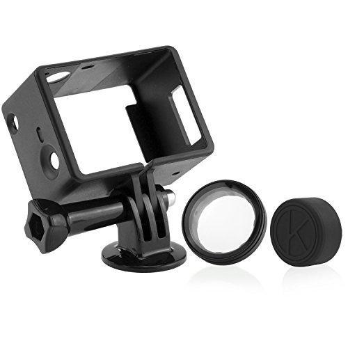 Telaio Estensione per GoPro CamKix - Compatibile con GoPro Hero 4 Black e Silver 3 e 3+ / USB, HDMI e Slot SD Totalmente Accessibili - Custodia Leggera e Compatta per la tua Action Camera - Da utilizzare con LCD e Batteria Estensione - 1 Vite a Galletto / 1 Montatura Cavalletto / 1 Copriobiettivo in Gomma / 1 Filtro Protettivo UV per Obiettivo inclusi