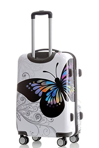Butterfly 2060 4tlg Reisekofferset Trolley Gepäckset Reisekoffer Hartschalen Kofferset -