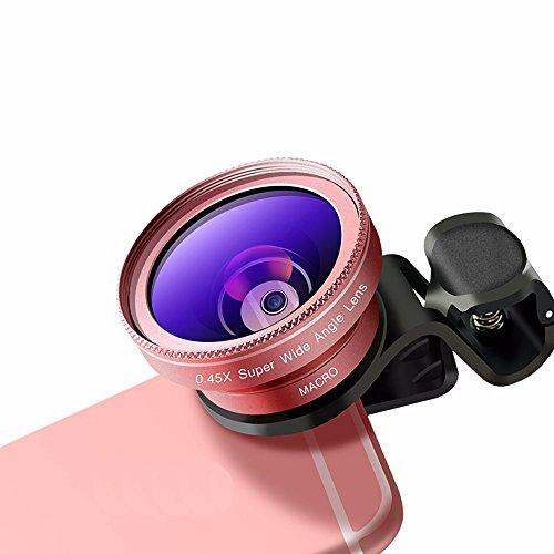 Ampio angolo di telefono mobile + lente macro + fish eye triple set di fotocamera esterna HD universale reflex,grandangolo oro macro 02
