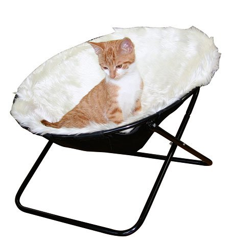 """Kerbl Liegemulde \""""Sharon\"""", Liegeschale für Katzen, 50 cm Durchmesser in weiss oder braun (Weiss)"""
