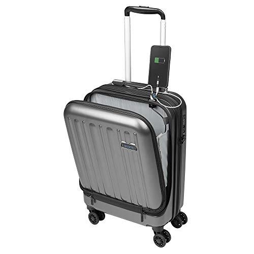 Valigia Bagaglio a Mano Tasca porta PC Trolley Cabina Bagaglio Rigido e Leggero 4 Ruote Doppie Giro...