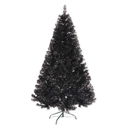 4/5/6/7 Piedi Nero Albero di Natale, PVC Artificiale Alberi di Natale Pino, Spento Home Office Decorazione di Festa dell'albero di Natale con Metal Basamento del Piedino (Dimensione : 1.2m)