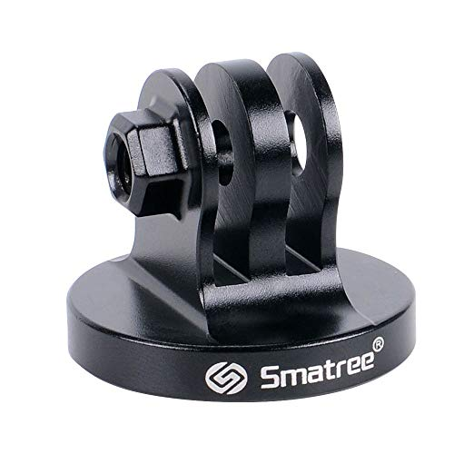 Smatree Alluminio treppiede Adattatore per Fotocamera GoPro Hero 7/6/5/4/3+/3/2/1/DJI OSMO Action, Hero 2018 -(Nero)