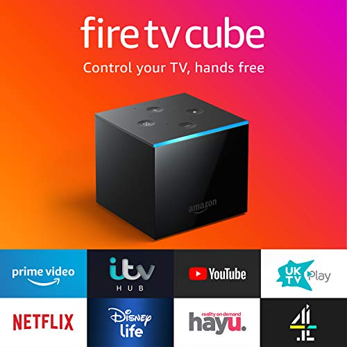 All-new Fire TV Cube | Hands free with Alexa, 4K Ultra HD streaming media player 2  All-new Fire TV Cube | Hands free with Alexa, 4K Ultra HD streaming media player 41JyC 2BLIM5L