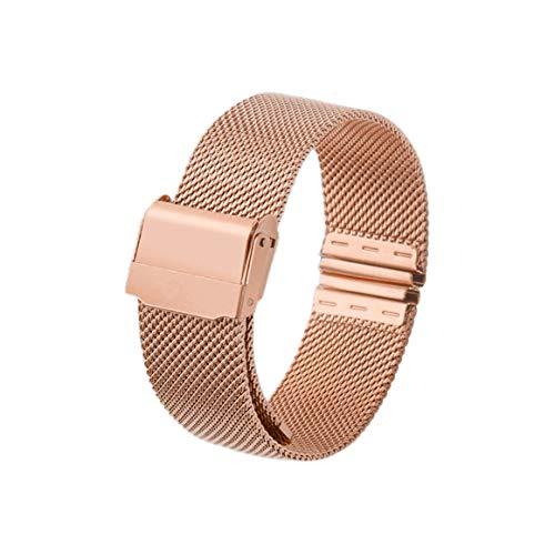 Funnyrunstore 12mm 14mm 16mm 20mm cinturino dell'orologio cinturino in metallo magnetico cinturino in acciaio inossidabile cinturino a sgancio rapido cinturino per orologio DW (oro rosa; 12mm)