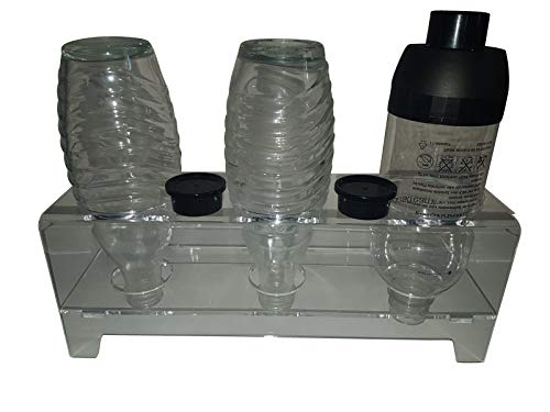 flexiPLEX bottleDRY Triple aus PLEXIGLAS® Abtropfhalter und Flaschenständer transparent für Kunststoffflaschen/Glasflaschen (außer für SodaStream Easy Flaschen dafür bottleDRY-TM verwenden)
