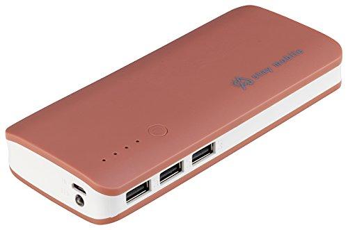 stay mobile Powerbank 22400mAh hohe Kapazität mit 3 USB Ausgängen Externer Akku und Handy Ladegerät für iPhone, iPad, Samsung, Smartphones und Tablets