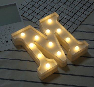 Esta.east Romantico Caldo Bianco Lettera Decorazione Luci,Festa di Famiglia Festa Celebrazione LED Size 22cm (M)