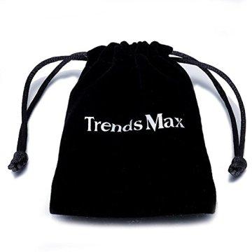 Trendsmax Hombres Mujeres Unisex Tono De Plata De Acero Inoxidable Egipcio Ankh Cruz De La Vida Egipto Símbolo Colgante Collar 9