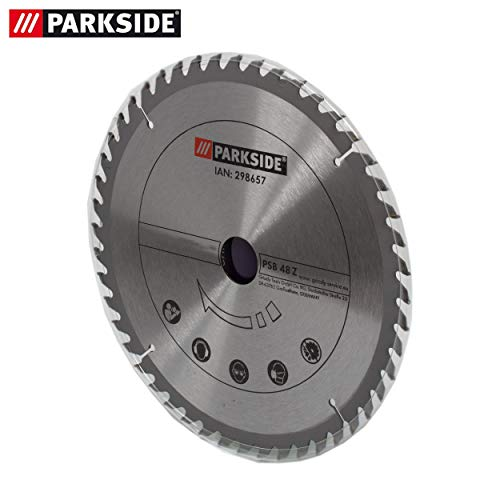 Hoja de sierra de metal duro, 48 dientes, para sierra circular de mesa Parkside PTK 2000 C3 - LIDL IAN 285037