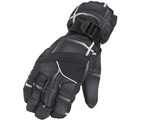 FabSeasons Unisex PU Water Resistant Winter Ski and Snowboard Gloves