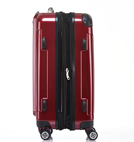 BEIBYE Zwillingsrollen 2048 Hartschale Trolley Kofferset Reisekoffer in M-L-XL-Set in 14 Farben (Set, ROT) - 6