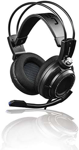 uRage Gaming Headset PC 7.1 (Virtual 7.1 Surround Sound, Full-Stereo Kopfhörer, Bass Vibration, LED-Beleuchtung, USB, extra langes 2,5m Kabel), PC Headset schwarz