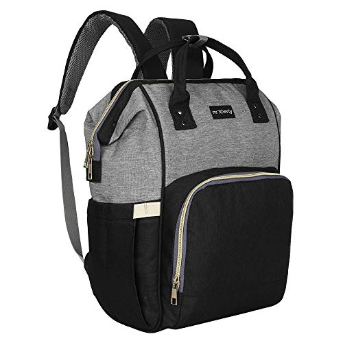 Motherly Stylish Babies Diaper Bags for Mothers - Economical Version (Black and Gray)