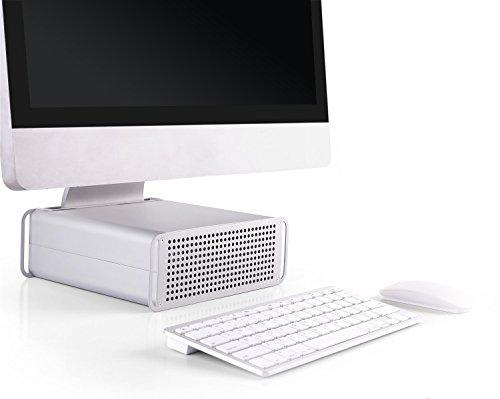 RICOO iMac Ständer Stand MTS-03 AiO Aufsatz Erhöhung Ergonomisch Kühlung Höhenverstellbar/21/53cm - 27