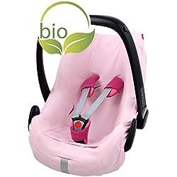 Funda de verano ByBoom para moisés, 100% algodón ecológico, universal, para Maxi-Cosi, CabrioFix, Pebble, City SPS, Color: rosa