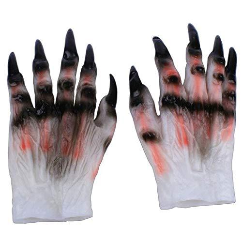 Costumes Unisex di Halloween Cosplay di Accessori Completa Dita Guanti Skeleton Prop Demone Zombie...