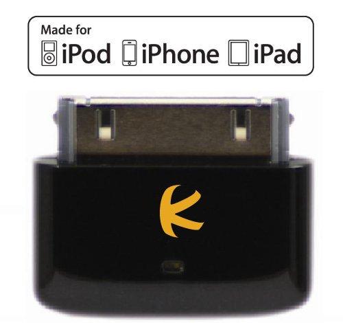 KOKKIA i10s_black (Luxuriöse Schwarz) Mini-Bluetooth-iPod-Transmitter für iPod / iPhone / iPad mit echter Apple-Authentifizierung. Ermöglicht die Fernsteuerung und lokale Lautstärkeregelung für iPod / iPhone / iPad. Unterstützt Plug-and-Play und funktioniert mit dem neuesten iPod Nano (6. Generation), iPod Touch (4. Generation), iPhone 4S und iPad 3.