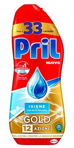 Pril Gold Gel lavastoviglie Igiene, Detersivo lavastoviglie con bicarbonato, Detergente...