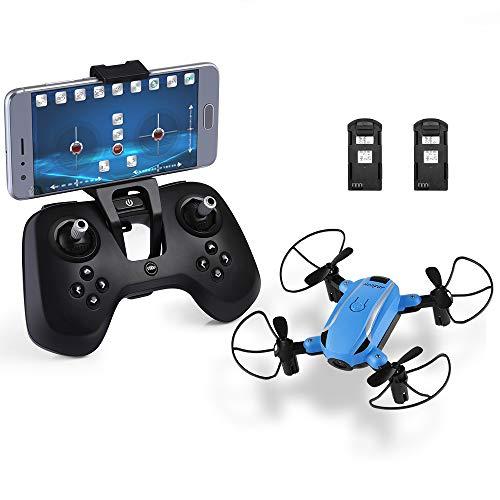 HELIFAR Pieghevole Drone con Telecamera HD, X1 WiFi FPV Mini Drone 2.4 GHz 6 Assi Gyro RC Quadcopter...