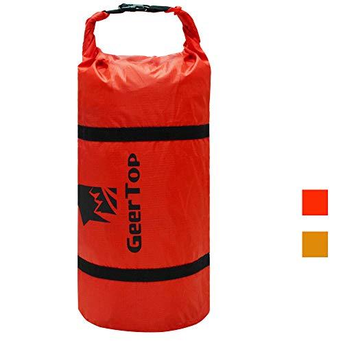 GEERTOP Bolsa para Tienda de Campaña de Lona 20D Ultraligera - Bolsa de Transporte Ajustable - para Deportes al Aire Libre y Acampadas (Rojo, para Tienda de 2-3 Personas)