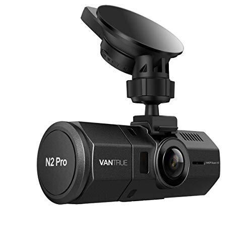VANTRUE N2 Pro Dual Dashcam Infrarot Nachtsicht Dual 1080P Full HD Auto Kamera Vorne Hinten, Sony Sensor Car Camera (2560x 1440P vorne), 1.5 Zoll 310° Parküberwachung Dash Cam G Sensor Max. 256GB