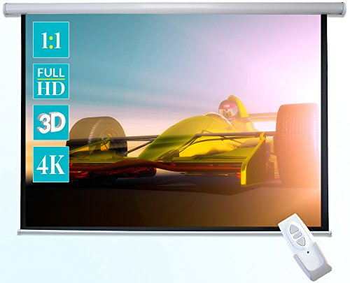 ivolum schermo motorizzato 240 x 240cm | Formato 1:1 | schermo elettrico utilizzabile per home...
