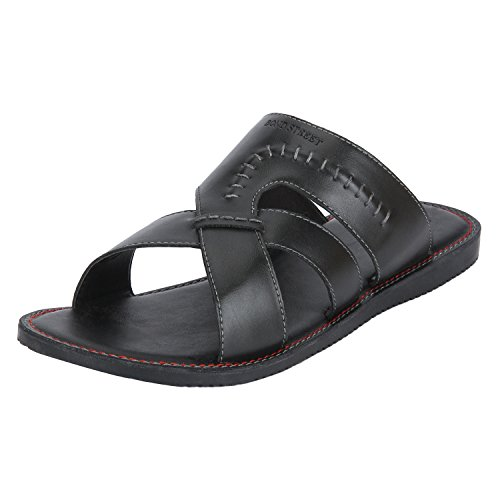 Bond Street by (Red Tape) Men's Black Sandals-10 UK/India (44 EU) (BCE0041-10)