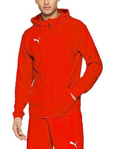Puma Liga Casual Hoody Jacket, Giacca Uomo, Rosso Red White, XL