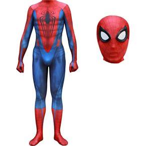 QWEASZER Captain America: Civil War, Marvel Avengers Spider-Man Costume Zentai Onesie Clothing Outfit Halloween Lycra Cosplay Body Movie Disfraces Onesies,Spiderman-160~165cm