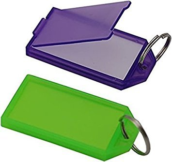 RainSound Multicolour Tag Label Keychain (Set of 10)