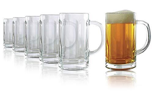 Tivoli Stuttgart Bicchieri per Birra - 325 ml - Set di 6 - Bicchieri di Alta qualità - Lavabili in lavastoviglie - Bicchieri di Cristallo