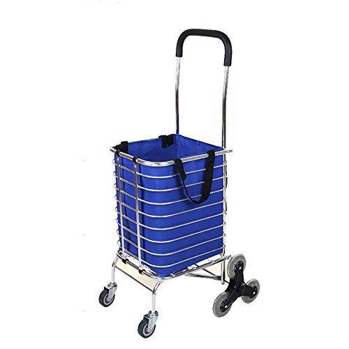 XF Carrello portapacchi pieghevole a rotelle con carrello girevole leggero da 8 ruote carrello spesa...