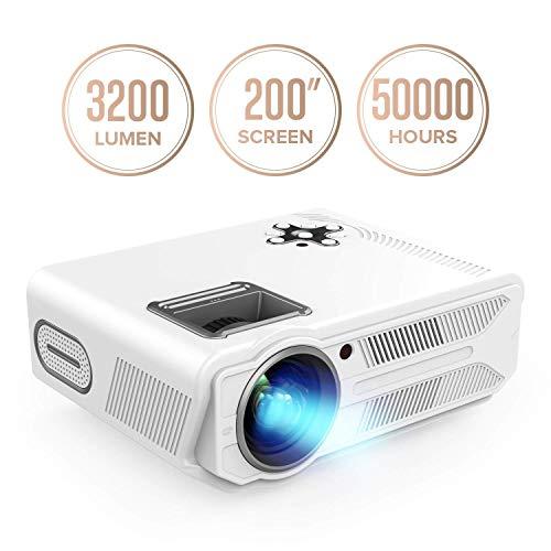 Proiettore RD-819, 3200 Lumen, proiettore LCD da 5,8', proiettore multimediale home cinema, supporta...