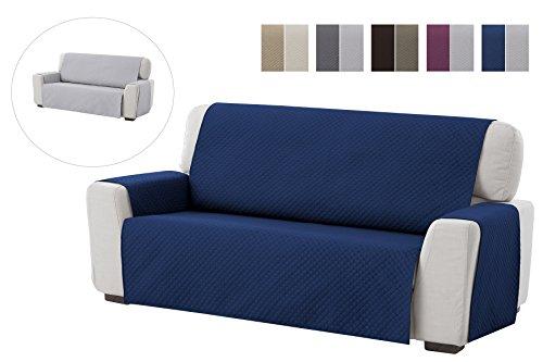 textil-home Salvadivano Trapuntato Copridivano Adele 3 posti Reversibile. Colore Blu