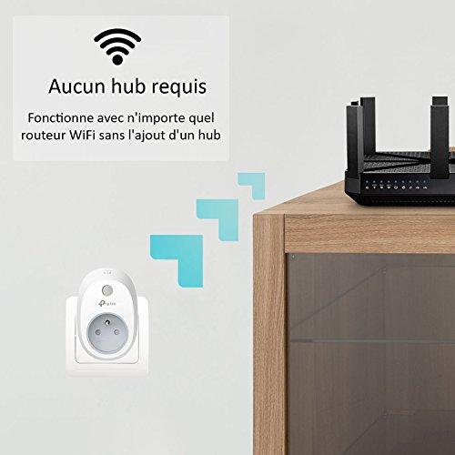 41L5zFy-3uL [Bon Plan Domotique] TP-Link HS100(FR) Prise connectée WiFi, Charge maximale 16A, compatible avec Amazon Alexa (Echo et Echo Dot), Google Assistant et IFTTT pour la commande vocale, aucun hub requis