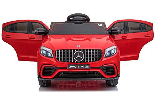 Toyhouse Officially Licensed Mercedes Benz GLC63 Battery Operated Ride-on Swing Function car with Remote for Kids(2 to 6 yrs), Red