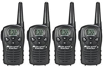 MidlandChannel GMRS with Mile Range Water-Resistant Channel Scan Two-Way Radio