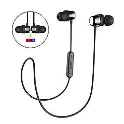 Kaufen Bluetooth In-Ear Sport Kopfhörer HAVIT V4.2 IPX5 Schweißresistent Stereo magnetischer Sport Ohrhörer mit 10 Meter Reichweite, eingebautes Mikrofon für iPhone, Huawei und Samsung (I39,Schwarz)