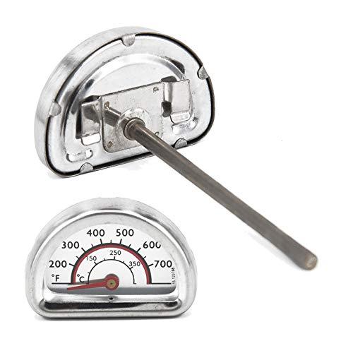 MarelShop - Termometro 0-400° gradi con sonda per forni barbeque BBQ in acciaio inossidabile segna...