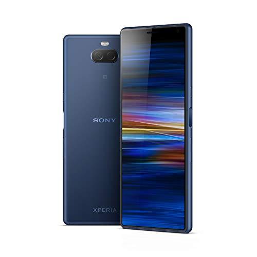"""Sony Xperia 10 - Smartphone de 6"""" Full HD+ 21:9 CinemaWide (Octa-Core de 2,2 Ghz, 3 GB de RAM, 64 GB de memoria interna, cámara dual de 13+5 MP, Android P Dual Sim), Color Azul [Versión española]"""