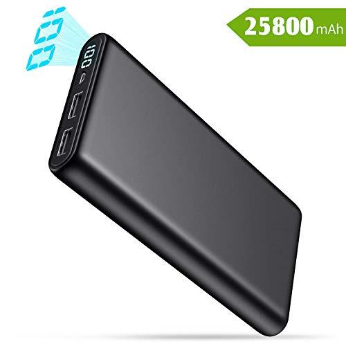 Batería Externa 25800mAh QTshine con 2 Puertos USB «Alta Velocidad»