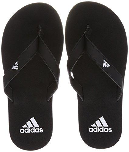 Adidas Eezay Flip Flop Scarpe da Spiaggia e Piscina Uomo, Nero (Negbas / Ftwbla 000), 39 EU (6 UK)