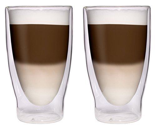 2 x 370 Ml xXL grands verres/verres à double paroi pour thàet verres/verres bormioli-ÃÂlÃÂgante feelino lot de 12 verres by Filosa
