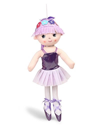 My Baby Excels Ballerina Plush Doll | Imported Premium Quality | Soft Toy for Kids of Age 1 Year and Above | Purple Colour | Size 50 cm
