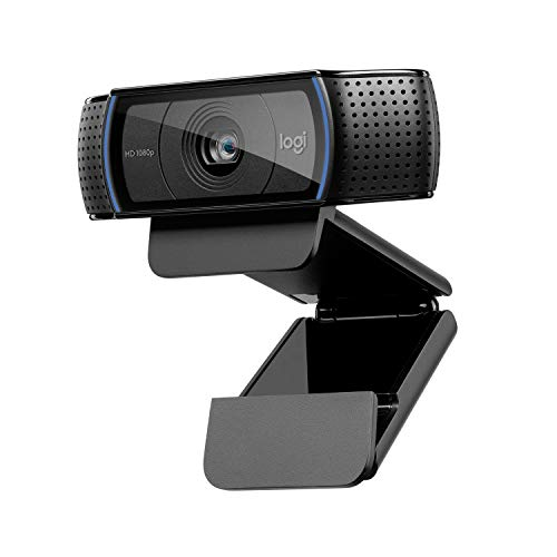 Logitech C920 HD Pro Webcam, Videochiamate e Registrazione Full HD 1080p, Due Microfoni Audio Stereo, Nero