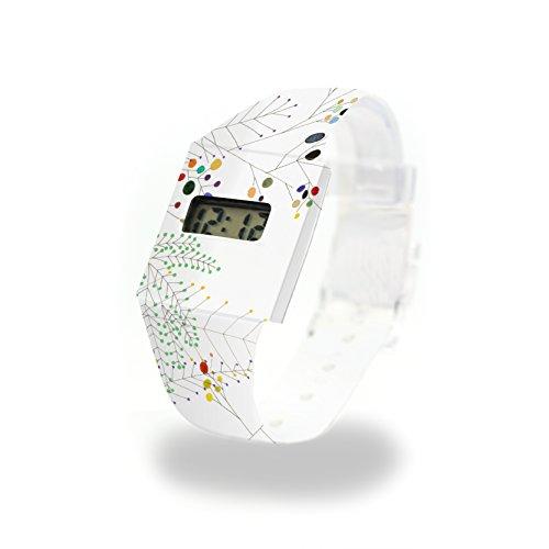 Happy FERN Pappwatch/Paperwatch/Digitale Armbanduhr aus Tyvek - absolut reissfest und wasserabweisend - Standard